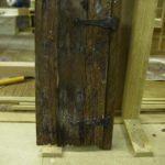 Door showing hinges
