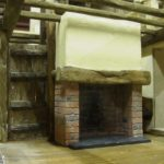 miniature brick fire place front view