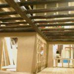 Real oak beams oxidising