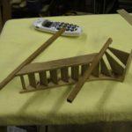 oak stair case strings