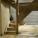 solid oak staircase with winders
