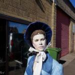 Jane Austen visting the workshop for afternoon tea
